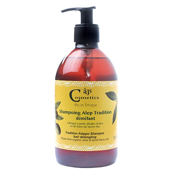Cap Cosmetics Savon d'Alep Shampooing Démêlant Bio 500ml