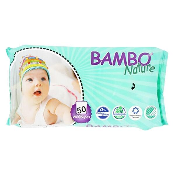Bambo Nature Lingettes Imprégnées Bébé 50 Unités