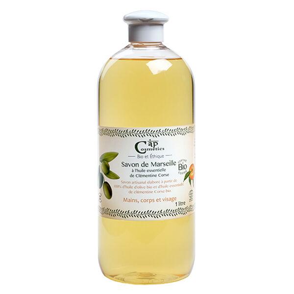Cap Cosmetics Savon Liquide de Marseille Clémentine Corse Bio 1L