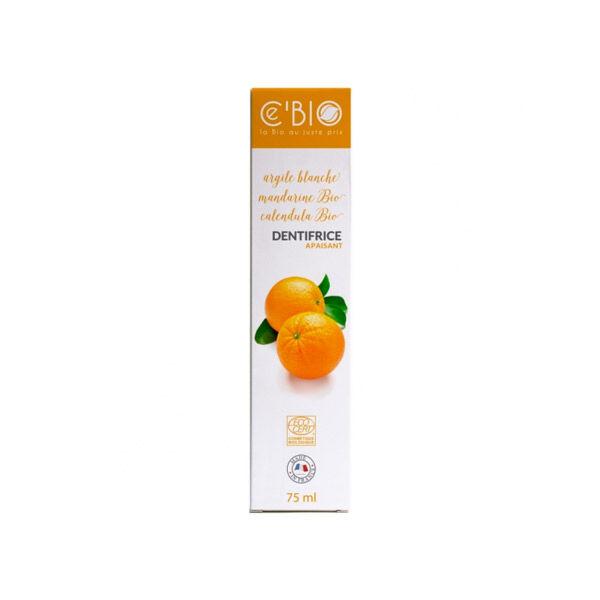 Gravier Ce'bio Dentifrice Argile Blanche Mandarine 75ml