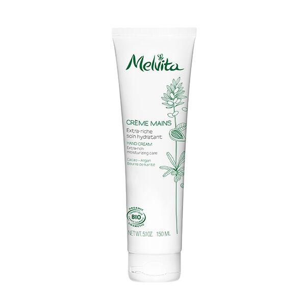 Melvita Crème Mains Extra-Riche Soin Hydratant Cacao-Argan 150ml
