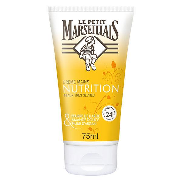 Le Petit Marseillais Crème Mains Nutrition Karité, Amande Douce et Argan 75ml