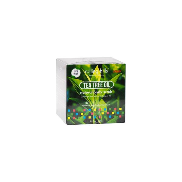 Rolling Hills Gommage Naturel Corps Tea Tree Vegan 250g