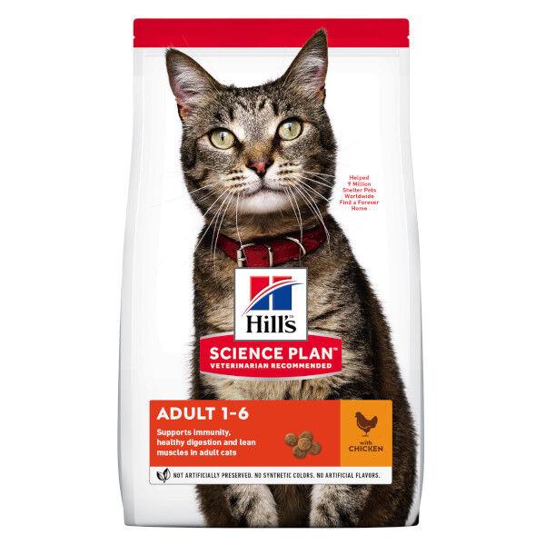 Hill's Science Plan Feline Adult Croquettes Poulet 3kg