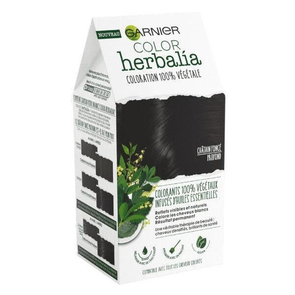 Herbalia Garnier Color Herbalia Coloration 100% Végétale Châtain Foncé Profond