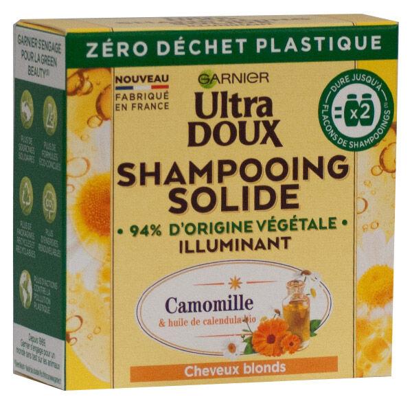 Garnier Ultra Doux Shampooing Solide Illuminant Camomille 60g