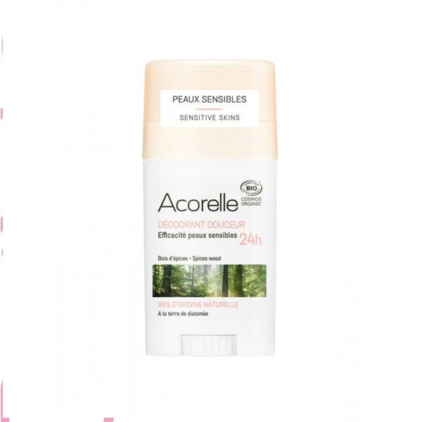 Acorelle Déodorant Douceur Bio Bois d'Épices 40g