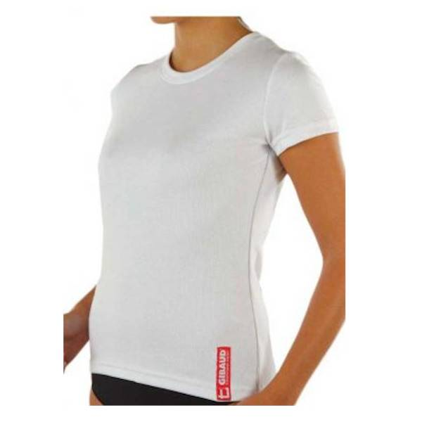 Gibaud Sous Vêtement Technical Wear Tee Shirt Femme Manches Courtes Taille M (38-40) Blanc