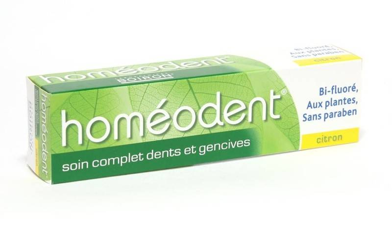 Boiron Homéodent Dentifrice Soin Complet Citron 75ml