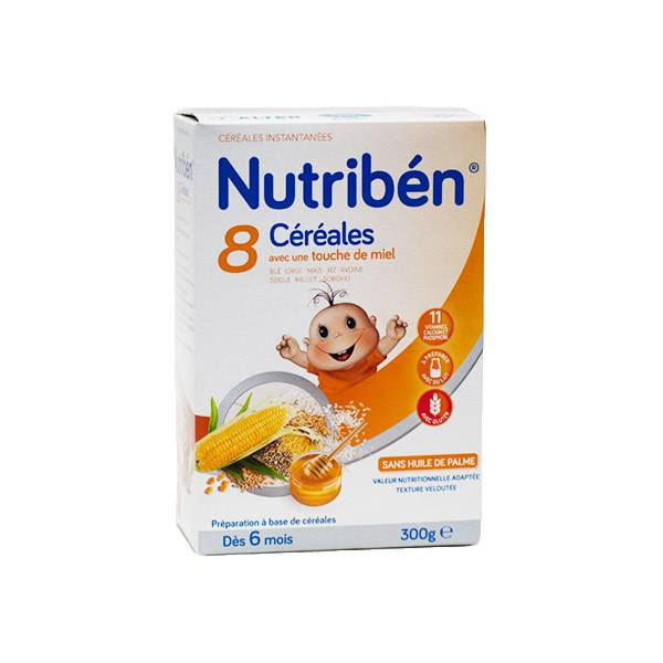 Nutriben Nutribén 8 Céréales et Miel +6m 300g