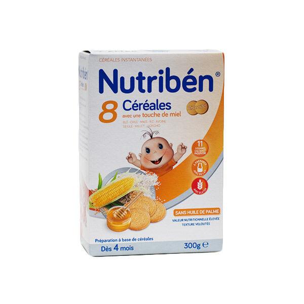 Nutriben Nutribén 8 Céréales et Miel Biscuitée +6m 300g