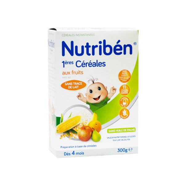 Nutriben Nutribén Premières Céréales aux Fruits +4m 300g