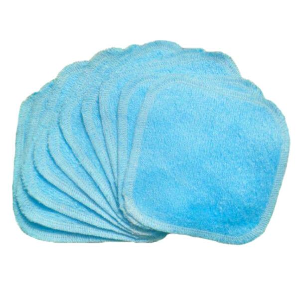 Bumdiapers Lingettes Lavables Coton Bio Bleu 15 x 15 10 Unités