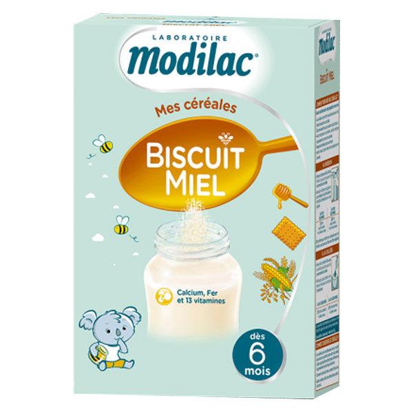 Modilac Mes Céréales Biscuit Miel +6m 300g