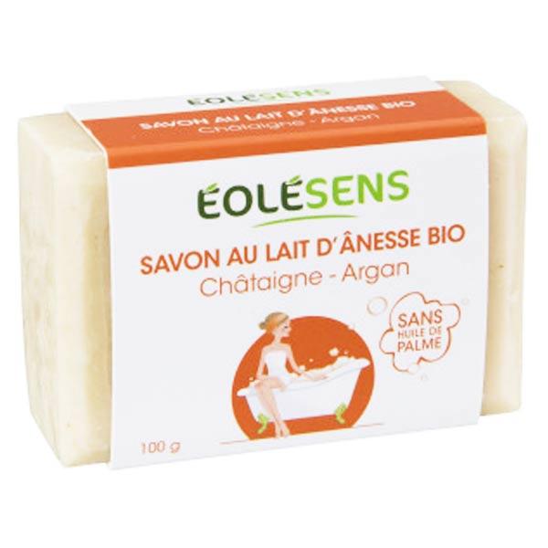 Eolésens Savon au Lait d'Anesse Bio Châtaigne et Argan 100g