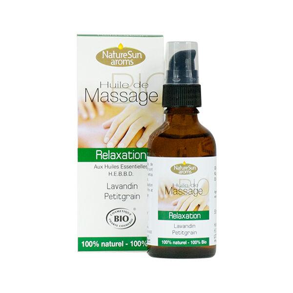 NatureSun Aroms Huile de Massage Bio Relaxation 50ml