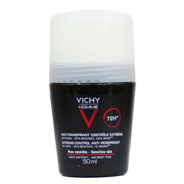 Vichy Homme Déodorant Anti-Transpirant 72H Roll-On 50ml