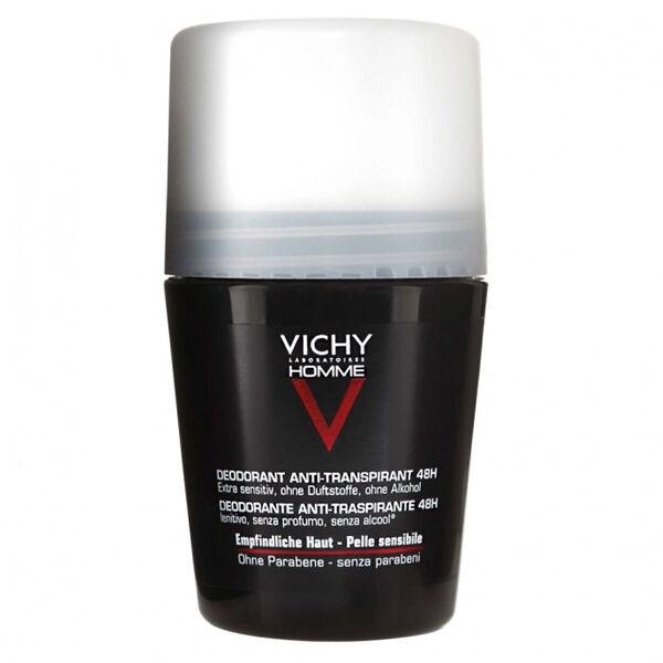 Vichy Homme Déodorant Roll-On Peaux Sensibles 48H 50ml