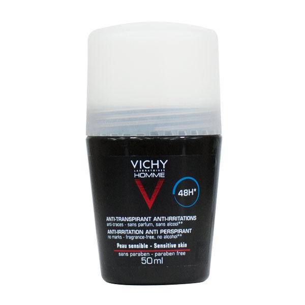 Vichy Homme Déodorant Bille Peaux Sensibles 48H 50ml