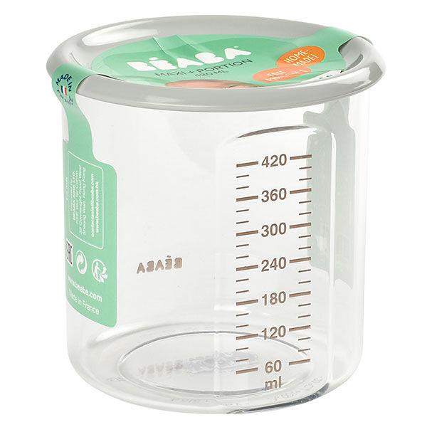 Béaba Portion Maxi+ Pot de Conservation en Tritan Gris 420ml