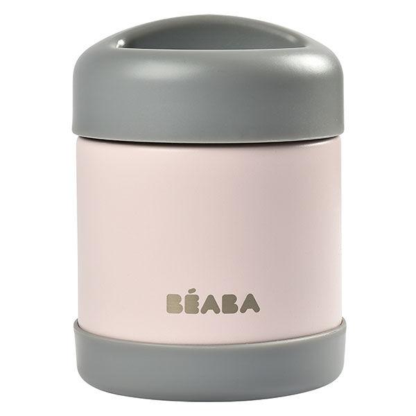 Béaba Portion Pot de Conservation Inox Isotherme Gris Rose 300ml