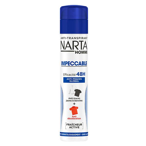 Narta Homme Impeccable Déodorant Anti-Transpirant 48h Anti-Traces Global Spray 200ml