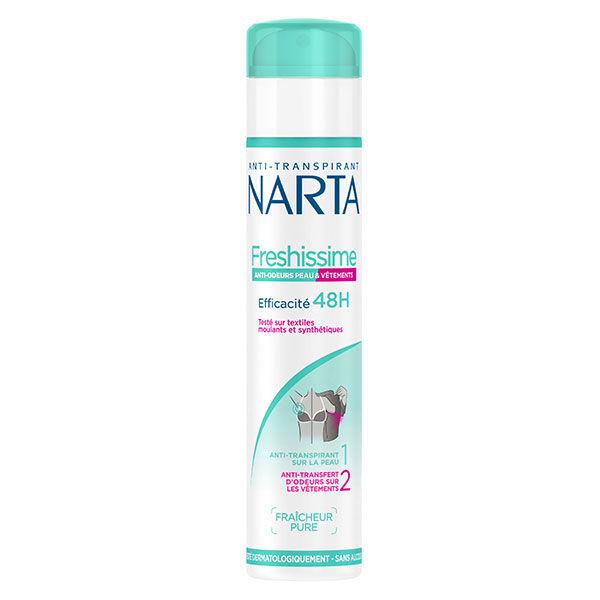 Narta Freshissime Déodorant Spray Femme Anti-Odeurs Peaux et Vêtements 48h 200ml