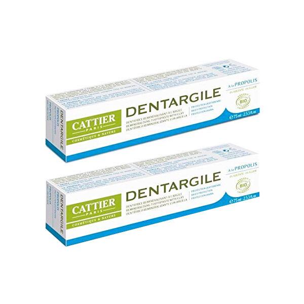 Cattier Dentifrice Dentargile Menthe Lot de 2 x 75ml
