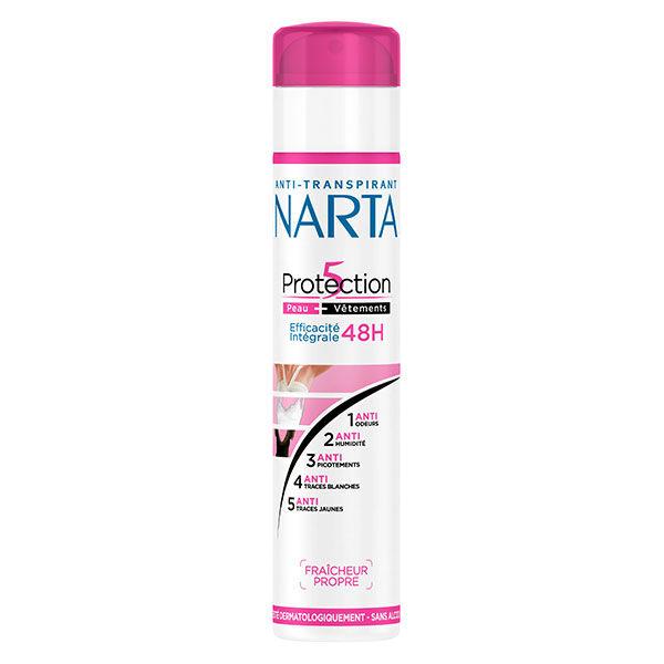 Narta Protection 5 Déodorant Spray Anti-Transpirant 48h 200ml