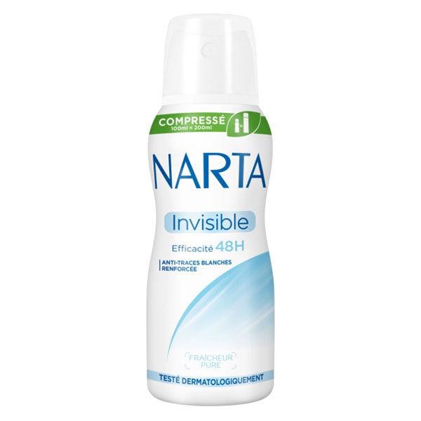 Narta Invisible Déodorant Spray Compressé Anti-Transpirant 48h 100ml