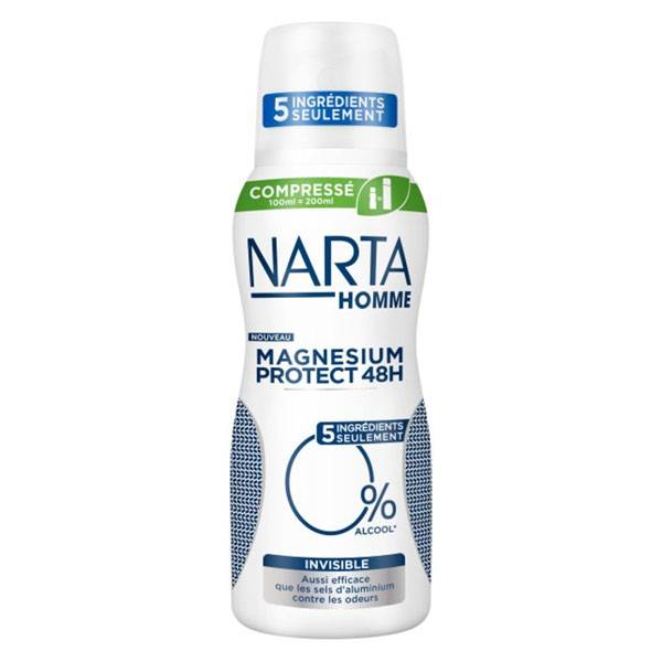 Narta Homme Magnesium Protect Déodorant Invisible Spray 100ml