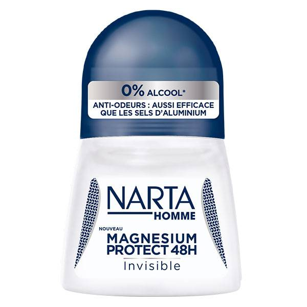Narta Homme Magnesium Protect Invisible Déodorant 48h Bille 50ml