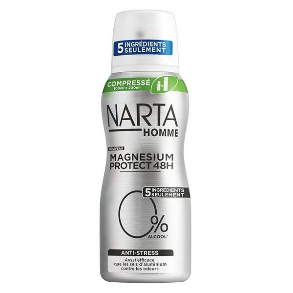 Narta Homme Magnesium Protect Déodorant Anti-Stress 48h Spray 100ml