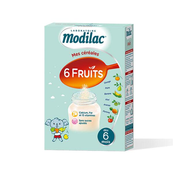 Modilac Mes Céréales 6 Fruits Dès 6 Mois 300g