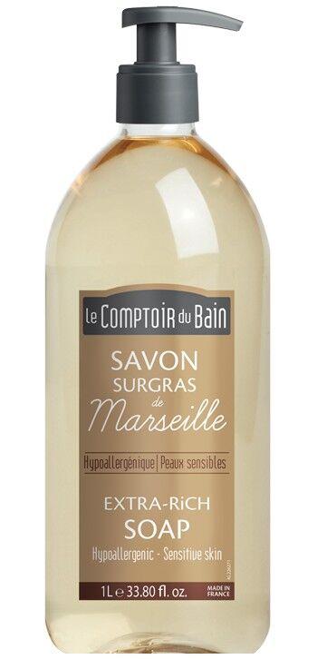 Le Comptoir du Bain Savon Traditionnel de Marseille Nature Surgras 1L