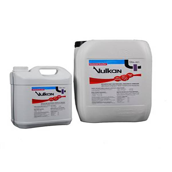 Huvepharma Vulkan Solution Desinfectante Locaux Materiel Transport 1L