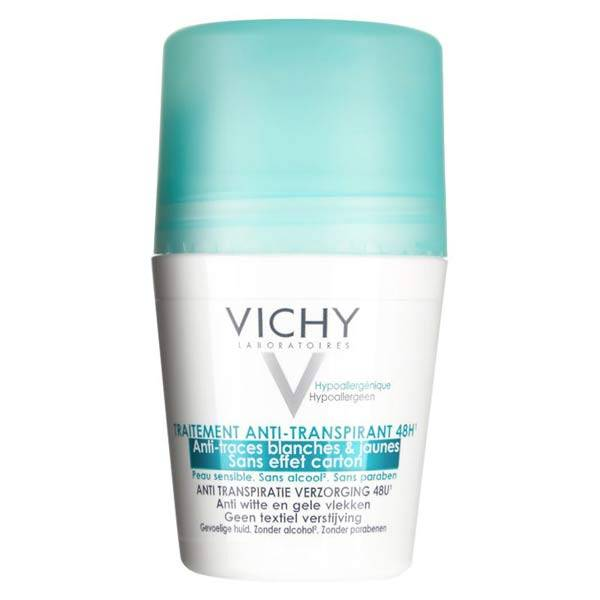 Vichy Déodorant Anti-Traces Blanches & Jaunes 48h Roll-On 50ml