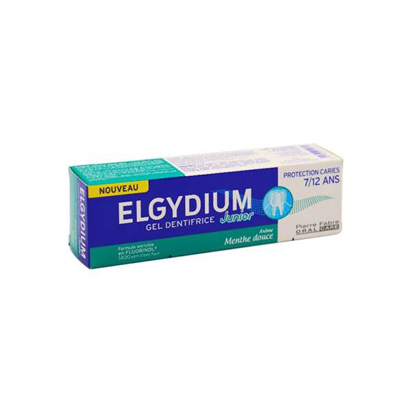 Elgydium Dentifrice Junior 7 à 12 ans Protection Caries Menthe Douce 50ml