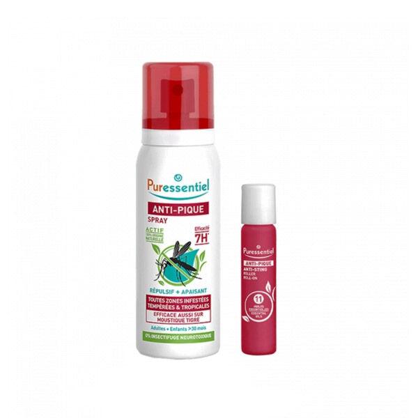 Puressentiel Anti-Pique Duo Spray 75ml + Roller Apaisant 5ml