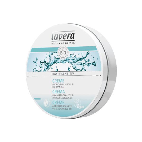 Lavera Basis Sensitiv Crème Beurre de Karité et Huile d'Amande Bio 150ml