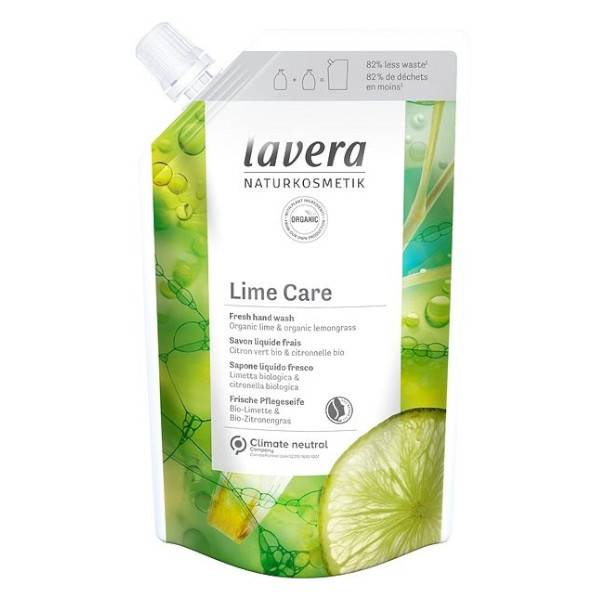 Lavera Lime Care Savon Liquide Frais Recharge Bio 500ml