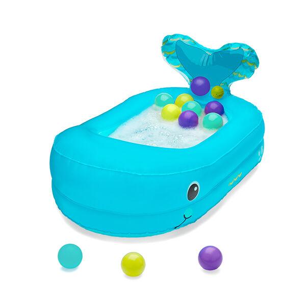 Infantino Bain Baignoire Gonflable Baleine avec Balles de Jeu