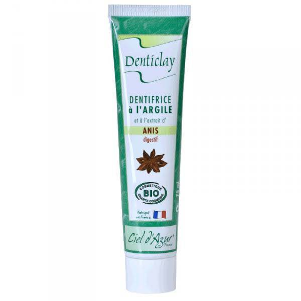 Ciel d Azur Denticlay Dentifrice à l'Argile Bio Anis 75ml