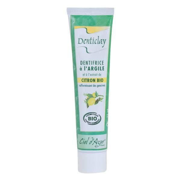 Ciel d Azur Denticlay Dentifrice à l'Argile Bio Citron 75ml