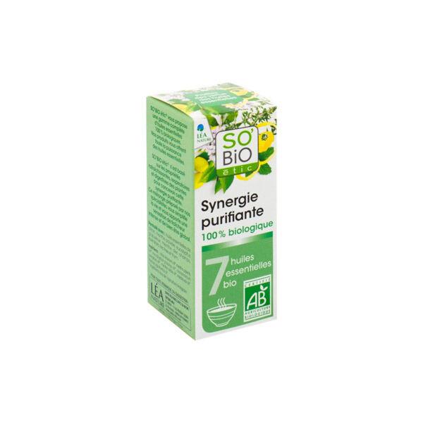 So'Bio Étic Arôma Synergie Purifiante pour Diffuseur aux 7 Huiles Essentielles Bio 10ml