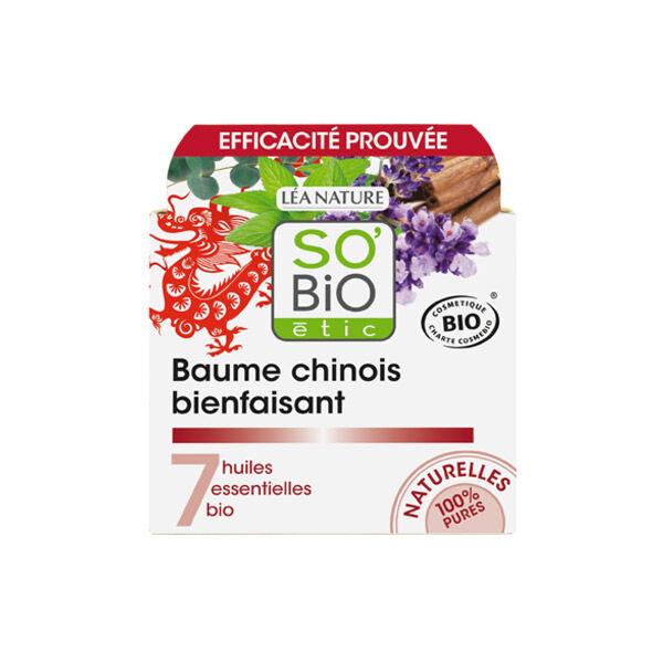 So Bio Etic So'Bio Etic Baume Chinois Bienfaisant aux 7 Huiles Essentielles Biologiques 40ml