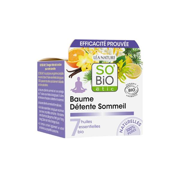 So Bio Etic Baume Détente Sommeil aux 7 Huiles Essentielles Biologiques 40ml