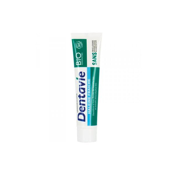 Dentavie Dentifrice Haleine Fraîche Menthe et Eucalyptus Bio 75ml
