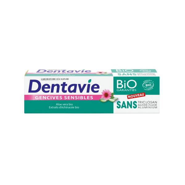 Dentavie Dentifrice Gencives Sensibles à l'Aloe Vera et Extrait d'Echinacées Bio 75ml