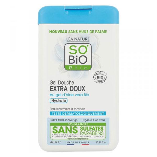 So'Bio Étic Douche Gel Extra Doux à l'Aloe Vera Bio 450ml